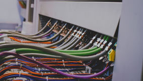 PLC Wires Stock Image