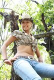plciowa cowpuncher sukienna dziewczyna Fotografia Stock