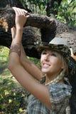 plciowa cowpuncher sukienna dziewczyna Obraz Royalty Free