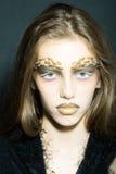 Plciowa dziewczyna z cierniami na twarzy Zdjęcia Royalty Free