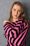 plciowy blondynka portret Fotografia Royalty Free