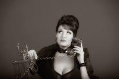 Plciowy kobiety mówienie telefonem Zdjęcie Royalty Free