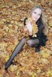 plciowy lasowy blondynka portret obraz royalty free