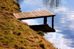 Pier on river royalty free stock images