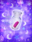 Píldora mágica Imágenes de archivo libres de regalías