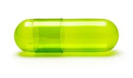 Píldora verde Foto de archivo libre de regalías