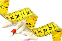 Píldoras de la dieta Fotos de archivo libres de regalías