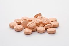 Píldoras de la vitamina C Fotos de archivo libres de regalías