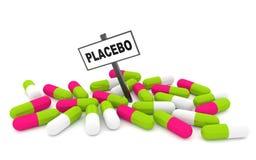 Píldoras del placebo Fotografía de archivo libre de regalías