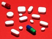 Píldoras, drogas y medicación Fotografía de archivo libre de regalías