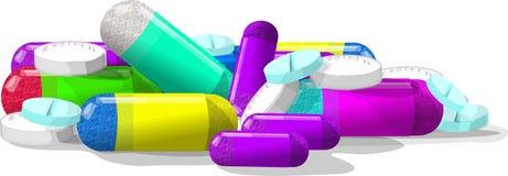 Píldoras, píldoras y más píldoras Imagen de archivo libre de regalías