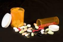 Píldoras y drogas Fotografía de archivo libre de regalías