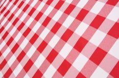 plädtablecloth Arkivfoto