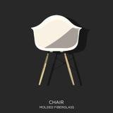 Pleśniejący Fiberglass krzesło Zdjęcie Stock