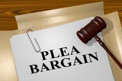 Plea Bargain concept Stock Photography