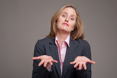 Pleading businesswoman Stock Photo