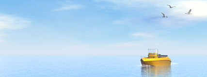 Pleasance boat - 3D render Stock Photos