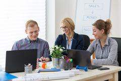 Pleasant atmosphere in modern office Royalty Free Stock Photos