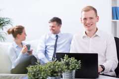 Pleasant atmosphere in the office Stock Photo