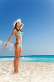 Pleasant beach walk Stock Images