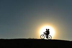 Pleasant bicycle adventure Royalty Free Stock Images