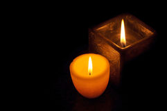 Pleasant candles Royalty Free Stock Photography