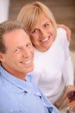 Pleasant couple bonding to each other Stock Photos