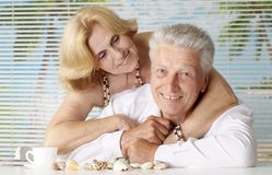 Pleasant couple at the resort Stock Images