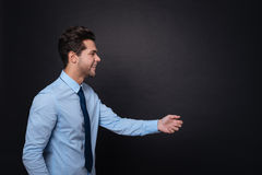 Pleasant delighted man expressing positivity. Stock Photography
