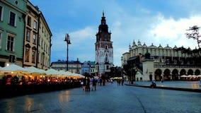 Pleasant evening in Krakow, Poland stock video footage
