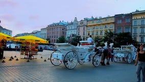 Pleasant evening in Krakow, Poland stock video