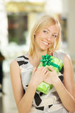 Pleasant gift Stock Image