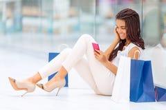 Pleasant girl making shopping Royalty Free Stock Photos