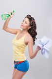 Pleasant housewife Stock Photo