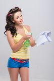 Pleasant housewife Stock Image