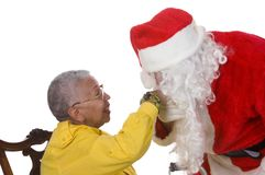 Pleasant man in Santa suit Stock Image