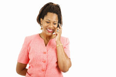 Pleasant Mobile Phone Conversation Stock Photo