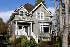 Pleasant old gray home Royalty Free Stock Photo