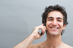 Pleasant phone conversation Stock Photography