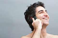 Pleasant phone conversation Royalty Free Stock Image