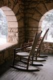 Cozy Porch With Snow Royalty Free Stock Photo