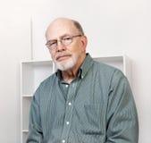 Pleasant Senior Man Portrait Stock Photos
