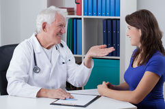 Pleasant visit in doctor's office Royalty Free Stock Photos