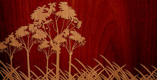 Pleasant Wood On Wood Background - Version 3 Royalty Free Stock Images