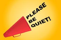 Please är tyst! begrepp Royaltyfri Fotografi