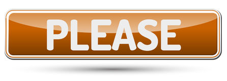 PLEASE - Abstract beautiful button with text. Royalty Free Stock Photos