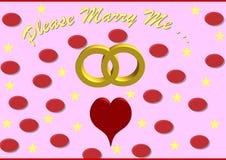 Please att gifta sig mig meddelande Royaltyfria Bilder