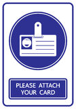 Please attach your card sign and symbol  Royalty Free Stock Images