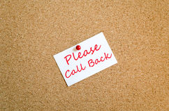Please Call Back Note Concept Royalty Free Stock Photography