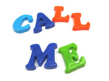 Please call me !. You can call me anytime Royalty Free Stock Photo